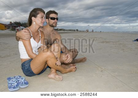 Casal na areia