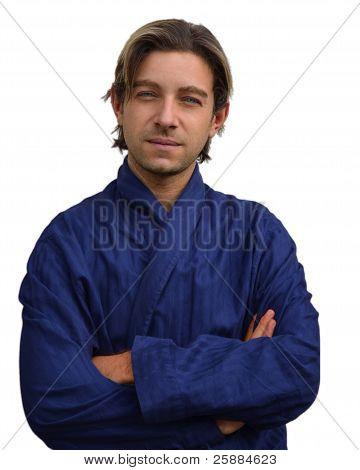 Good Looking Guy In Night Robe
