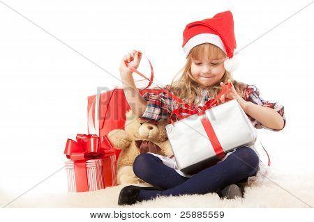 Chica desenvolver presente