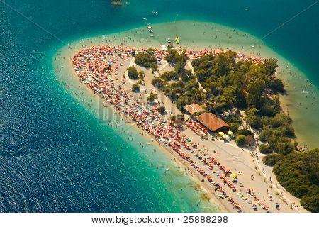 Wonderful beach birds-eye view from Parachute