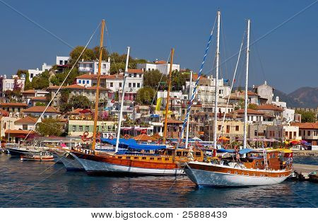 Harbor with Beautiful Yachts