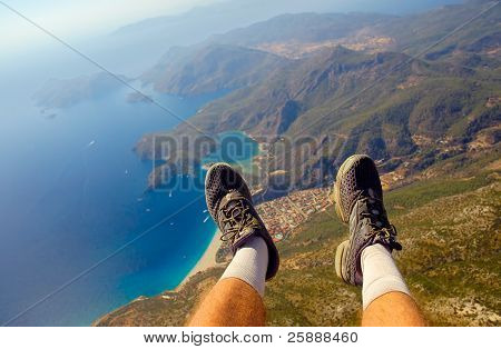 View under my feet taken during Paragliding ride
