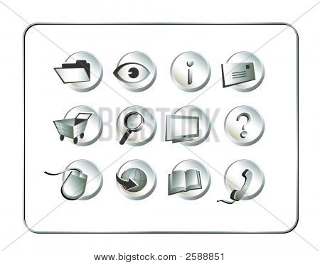 Icon-set silber