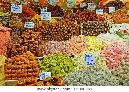 Assorted Turkish Delight Sweets Lukum