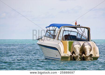 Small Luxury Boat in the sea