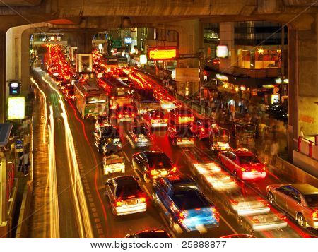 Rush Hour in Bangkok Centre