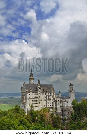 Famous German Castle Neuschwanstein in Bavaria