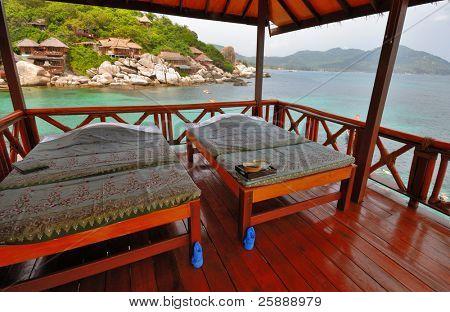 Exotic Seaside Spa in open Bungalow