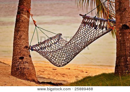 Peaceful Hammock at Beautiful Sunset Beach