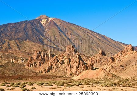 Teide volcano. Las Canadas del Teide Valley. Tenerife, Canary Islands, Spain