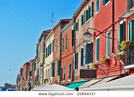 Old houses in Venice, Italy