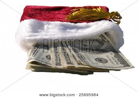 red gift bag stuffed with MONEY!!!!!!!!!!!