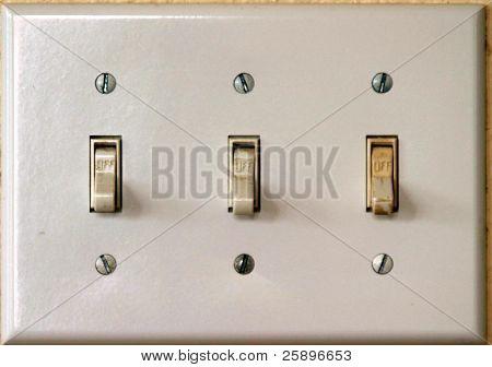 off white light switch