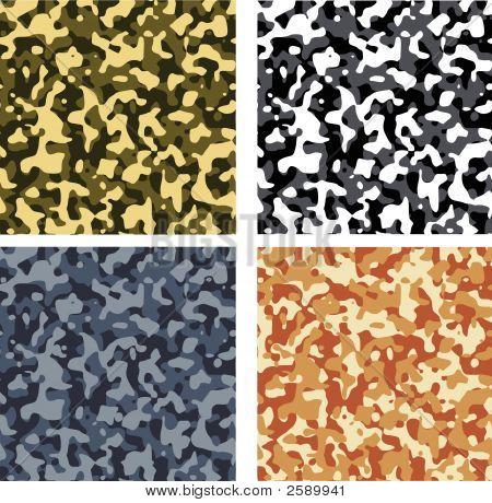 Seamless Camouflage Pattern Set