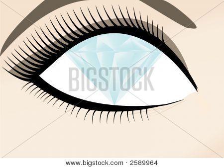 Female With Eyes Of Diamond