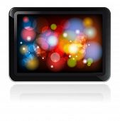 stock photo of tablet pc computer  - Fictitious design tablet PC EPS 10 vector Illustration - JPG