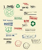 stock photo of slang  - vector rubber stamped words  and symbols - JPG
