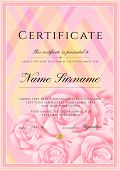 Certificate Template With Frame Border And Pattern. Design For Diploma, Certificate Of Achievement,  poster