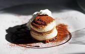 Small Yummy Delicious Tiramisu Dessert. Italian Dessert. poster