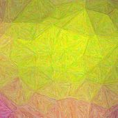 Illustration Of Square Lemon Yellow And Purple Impressionism Impasto Background poster