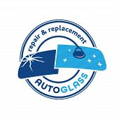 Auto Glass Company Logo. Vector And Illustration. poster