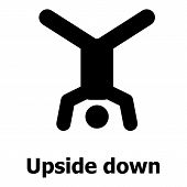Upside Down Icon. Simple Illustration Of Upside Down Icon For Web poster