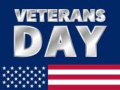 Happy Veterans Day Logo. Realistic Illustration Of Happy Veterans Day Vector Logo For Web Design poster