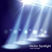 image of spotlight  - Vector Stage Spotlight - JPG