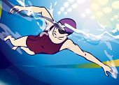 picture of swim meet  - Woman Swimming - JPG