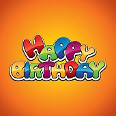 image of happy birthday card  - Happy birthday decoration - JPG