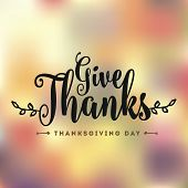 Thanksgiving Day. Logo, Text Design. Typography For Greeting Cards And Posters. Give Thanks. poster