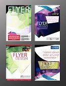 Layout Design Template Annual Report Flyer Leaflet Modern Background. Illustration Vector Polygon poster