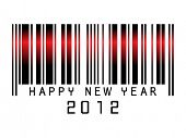 stock photo of new years celebration  - Barcode new year  2012 - JPG