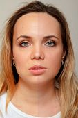 Retouch - Face Of Beautiful Young Woman Before And After poster