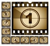 vector illustration of film countdown