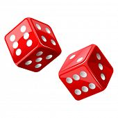 stock photo of dice  - vector illustration of dice - JPG