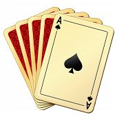stock photo of playing card  - vector illustration of playing cards - JPG