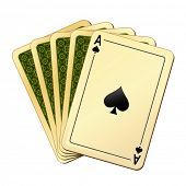 picture of playing card  - vector illustration of playing cards - JPG