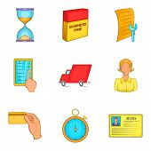 New Career Icons Set. Cartoon Set Of 9 New Career Icons For Web Isolated On White Background poster