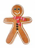 stock photo of ginger man  - Smiling gingerbread man - JPG