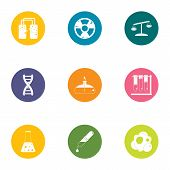 Chemical Experiment Icons Set. Flat Set Of 9 Chemical Experiment Vector Icons For Web Isolated On Wh poster