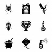 Toxic Chemical Icons Set. Simple Set Of 9 Toxic Chemical Vector Icons For Web Isolated On White Back poster