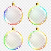 Glass Christmas Toys. Can Be Used On Any Background. Stocking Ch poster