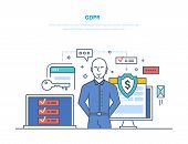 General Data Protection Regulation. Gdpr. Guaranteed Safe Protection And Encryption. poster