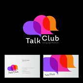Talk Club Logo. Language School Logo. Conversational Club Icon. Chat Logo. Community Emblem. Three M poster