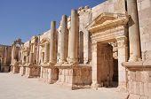 Постер, плакат: Юг театр в Джераше руины Иордания