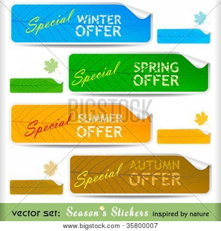 Premium Special Offer Four Seasons Peeling Stickers