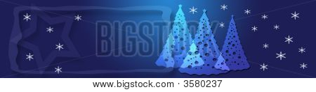 Blue Christmas Banner