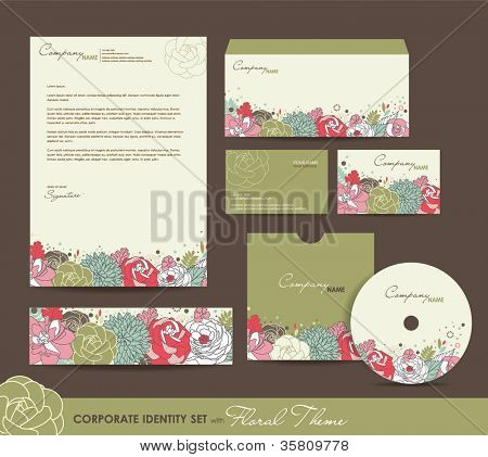 Corporate Identity set with nature theme