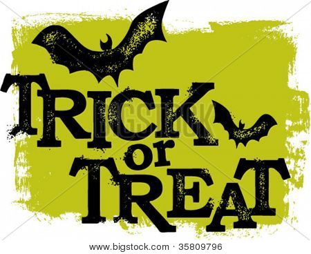 Trick or Treat Halloween texto